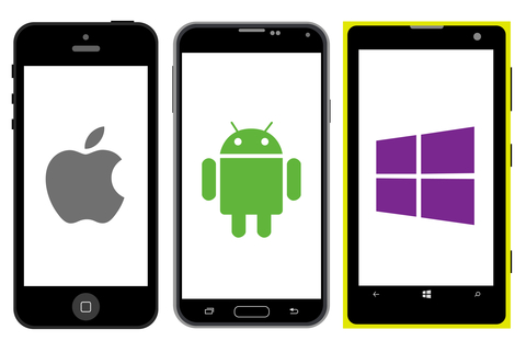 android, windows en apple telefoon