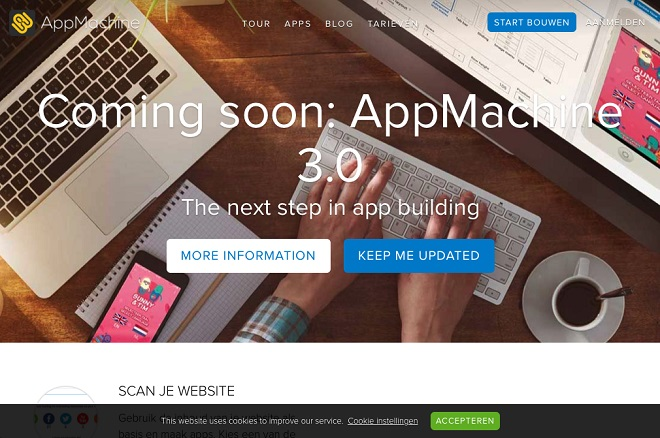AppMachine website screenshot