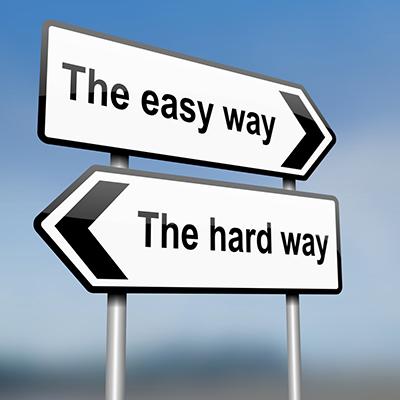 moeilijkste weg